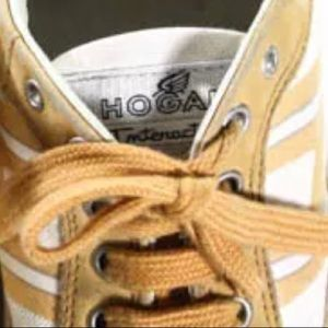 Hogan Shoes - HOGAN SUEDE LACE UP SNEAKERS SIZE 37.5